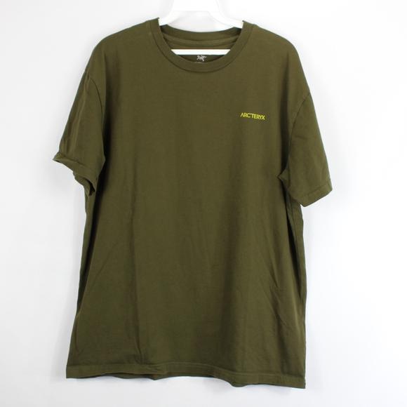 29724a676 ArcTeryx Mens Large Spell Out Short Sleeve T Shirt